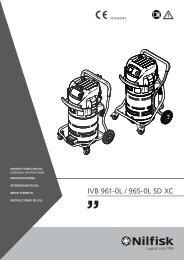 DE_IVB 9L-manual-107400434 E - Nilfisk PARTS - Nilfisk-Advance