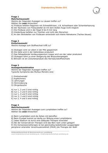 Heilpraktikerschule K. Papadopoulos - Schmitt Seite 1 Viel
