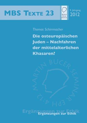 Die osteuropäischen Juden - Martin Bucer Seminar