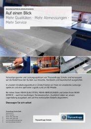 Auf einen Blick - ThyssenKrupp Schulte GmbH
