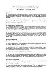 Allgemeine Verkaufs-Geschäftsbedingungen - miniJOULE