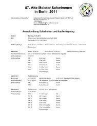 Ausschreibung - Masters in Berlin