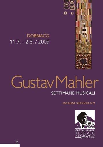 Qui potete scaricare il libretto di sala delle ... - Gustav Mahler