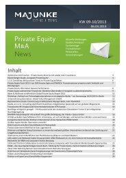Inhalt - MAJUNKE.com – Private Equity Venture Capital M&A