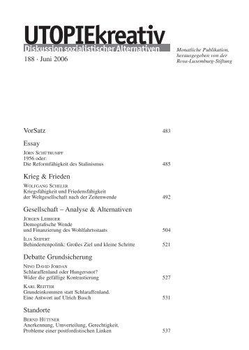 UTOPIE 188-D - Rosa-Luxemburg-Stiftung