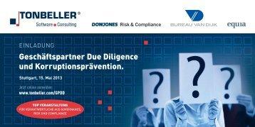 Geschäftspartner Due Diligence und ... - TONBELLER AG