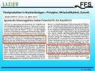 Fischproduktion in Kreislaufanlagen - Prinzipien ... - LAZBW