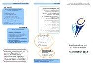 Konfirmandenarbeit in unserer Region Konfirmation 2014 - Ev.-Luth ...