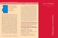 aktuelles Verlagsprospekt abrufen! - Text+Dialog