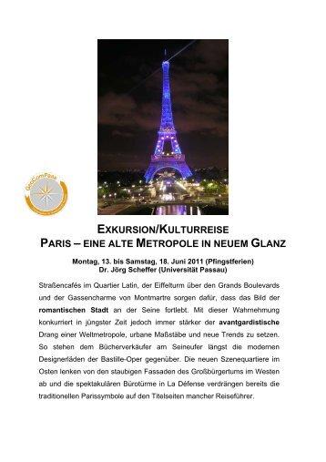 exkursion/kulturreise paris – eine alte metropole in neuem glanz