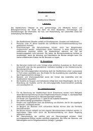 Benutzungsordnung der Stadtbücherei Ottweiler I. Aufgabe Die ...