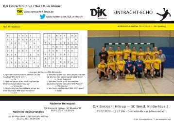 Ausgabe 9: 18. Spieltag, Saison 2012/2013 - DJK Eintracht Hiltrup