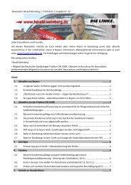 Newsletter Harald Weinberg | 17.04.2013 | Ausgabe Nr. 32 . Liebe ...