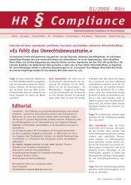 HR-Compliance 1-2008 - Christiane Siemann