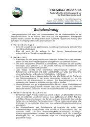 Schulordnung - Theodor-Litt-Schule - Stadt Neumünster