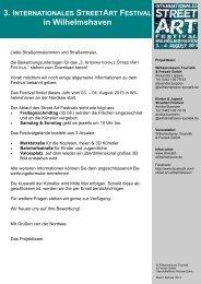 Bewerbung Künstler - Internationales StreetArt Festival ...