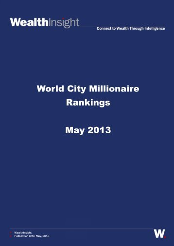 World City Millionaire Rankings May 2013 - FT Alphaville