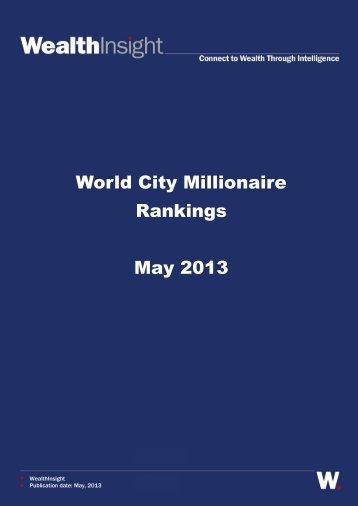 World City Millionaire Rankings May 2013 - FT Alphaville