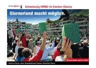 Umsetzung HRM2 im Kanton Glarus - Kanton Solothurn