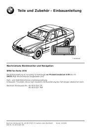 Einbauanleitung - Die BMW M5 E39 Seite!