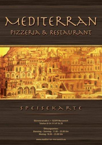 Speisekarte (PDF) - Restaurant Mediterran Merzenich
