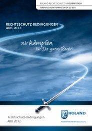 ROLAND Rechtsschutzbedingungen ARB 2012 - Markenrechtsschutz