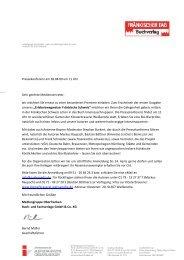 Presseinfo Buchvorstellung - Die Fränkische Schweiz