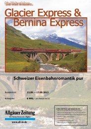 Glacier Express_Reiseprogramm - Ihre Allgäuer Zeitung
