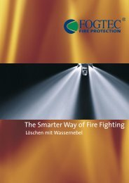 The Smarter Way of Fire Fighting - FOGTEC