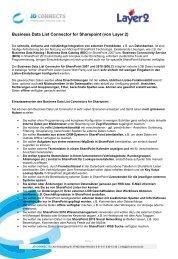Business Data List Connector for Sharepoint (von Layer 2)
