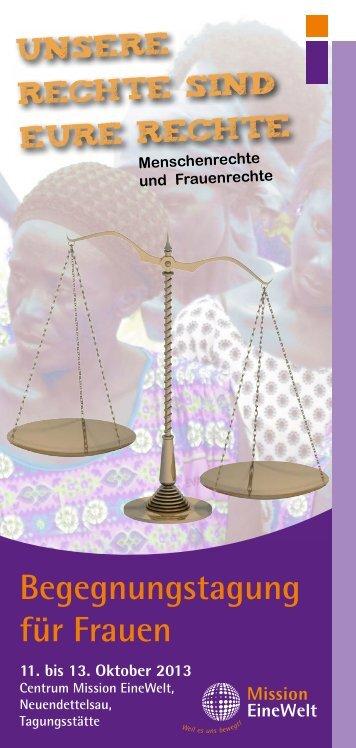 Begegnungstag für Frauen - Mission Einewelt