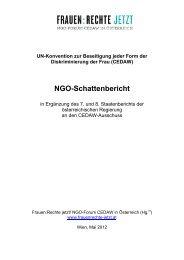 NGO-Schattenbericht - Ludwig Boltzmann Institut für Menschenrechte