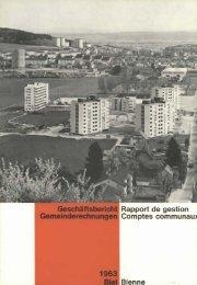 Rapport de gestion Comptes communaux - Stadt Biel