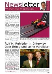 Rolf H. Ruhleder im Interview über Erfolg und seine Vorbilder