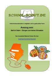 Bald ist Ostern - Übungen zum kleinen Einmaleins - School-Scout