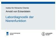 Nierenfunktionsdiagnostik - Institut für Klinische Chemie