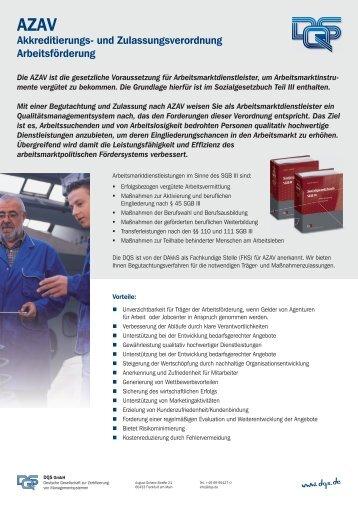 Produktblatt AZAV - DQS