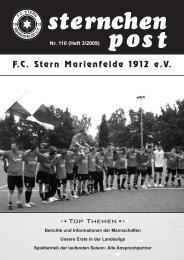 in die Saison - FC Stern Marienfelde e.V.
