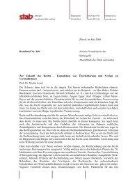 Rundbrief 160 - Stab - Stiftung für Abendländische Ethik und Kultur