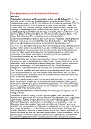 Frau Wagenknecht und die historische Wahrheit