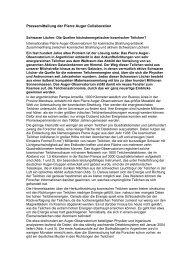Pressemitteilung der Pierre Auger Collaboration - Das Pierre Auger ...