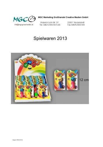 Spielwaren - zu den Katalogen