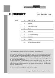Rundbrief Nr. 8 (September 2006) - Heinrich Jacoby - Elsa Gindler ...
