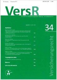 VersR 2012, 1477 - Kanzlei für Versicherungs