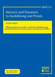 Steuern und Finanzen in Ausbildung und Praxis - HDS Verlag