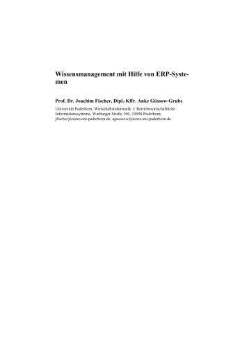 Wissensmanagement mit Hilfe von ERP-Systemen - Community of ...