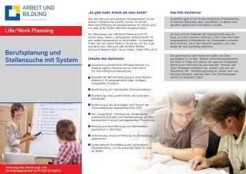 Berufsplanung und Stellensuche mit System - ABEG - Essen