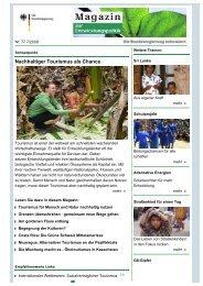 Nachhaltiger Tourismus als Chance - mascontour Tourismus Beratung
