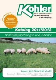 Katalog 2011/2012 Schafstalleinrichtungen und Zubehör