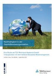 Nachhaltigkeit in der Geschäftsreise organisation. - Tuv